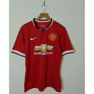 Nike M Manchester United Soccer Football Shirt Red